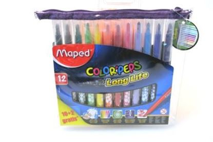 Bild von Maped Color Peps Fasermaler longlife 10 + 2 in Ziptasche