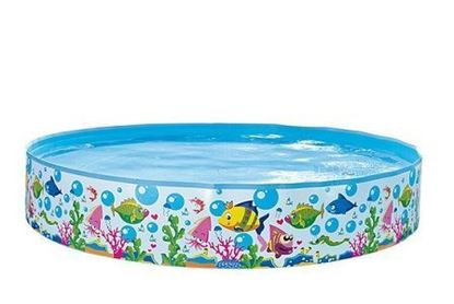Bild von Jilong Sea World Rigid Pool 120 - mit Meerestiere Aufdruck